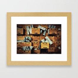 Filing System Framed Art Print