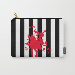 Black and White and Red All Over Carry-All Pouch