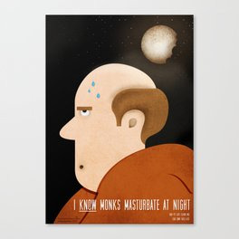 The monk and his secret Canvas Print