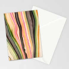 Watercolor strokes on wood III Stationery Cards