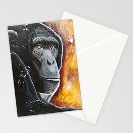 Chimpanzee - Wisdom - by LiliFlore Stationery Cards
