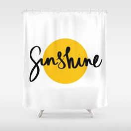 Sunshine | Yellow Circle Shower Curtain