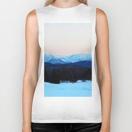 High Mountain in the Spring Biker Tank