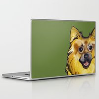pomeranian Laptop & iPad Skins featuring Molly the Pomeranian by Pawblo Picasso