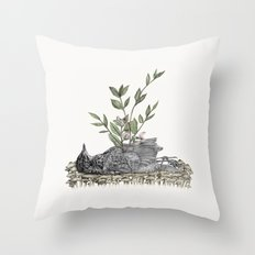 The Beginning Is The End Is The Beginning Throw Pillow