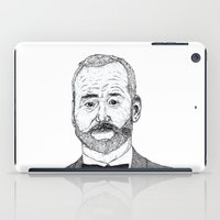 bill murray iPad Cases featuring Bill Murray Portrait by Shane Noonan