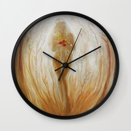 Kore or the juvenile Persephone, the goddess of spring Wall Clock