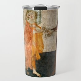 """Sandro Botticelli """"Venus and the Three Graces Presenting Gifts to a Young Woman"""" Travel Mug"""