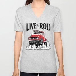 1956 FORD PICK-UP Workin' Hot Rod series Unisex V-Neck