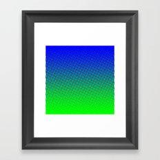 80's grade blue Framed Art Print