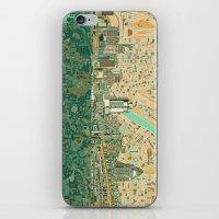 cincinnati iPhone & iPod Skins featuring cincinnati city skyline by Bekim ART
