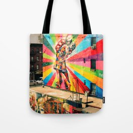 Street Art Mural, Times Square Kiss Recreation Tote Bag