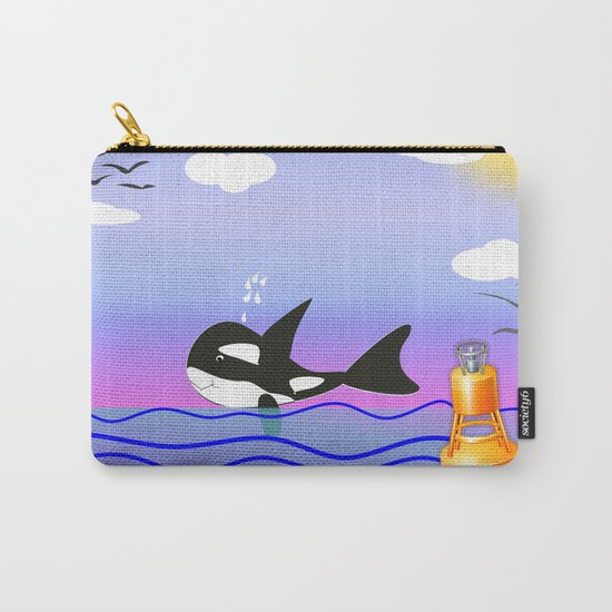 Happy Orca in the Ocean Carry-All Pouch