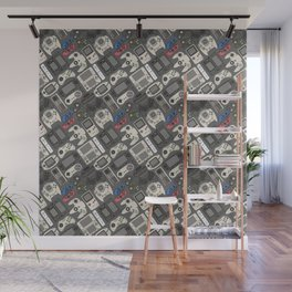Video Game Controllers in True Colors Wall Mural