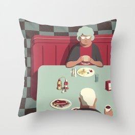 Day Trippers #11 - Diner Throw Pillow