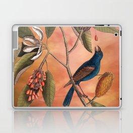 Blue Grosbeak with Sweetbay Magnolia, Vintage Natural History and Botanical Laptop & iPad Skin