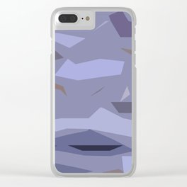 Fragmented Violet Clear iPhone Case
