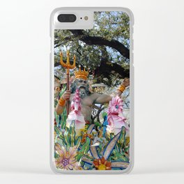 Neptune Rides Clear iPhone Case