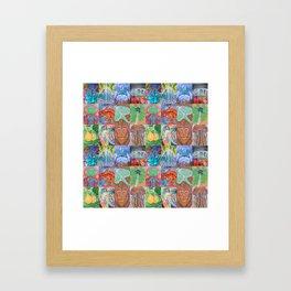 KHuck Collage Framed Art Print
