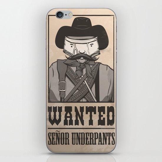 WANTED: SENOR UNDERPANTS iPhone & iPod Skin