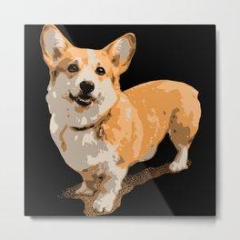 Corgi Dog Metal Print