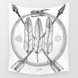 Ouroboros Logos Wall Tapestry
