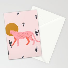 trot cat Stationery Cards