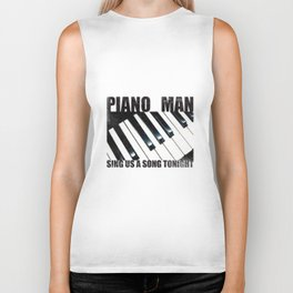 Piano Man Biker Tank