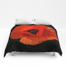 Red Poppy  Comforters