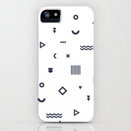 Blue Memphis Pattern iPhone Case