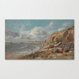 Coast Scene at Cullercoats near Whitley Bay by John Linnell, circa 1834 Canvas Print