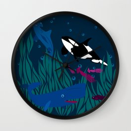 Under water Wall Clock