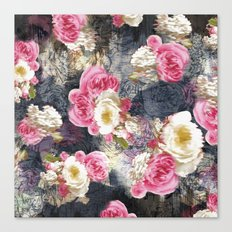 Blurry Floral Canvas Print