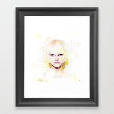 The girl who refuses the fear Framed Art Print