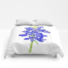 Bluebonnet Watercolor Comforters