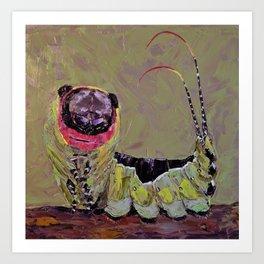 Smiling caterpillar Art Print