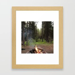 Backpacking Camp Fire Framed Art Print