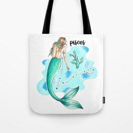 Pisces Mermaid Tote Bag