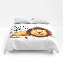Just Lion the ground Comforters