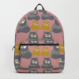 Yoga Bear in pink Backpack