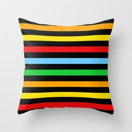 Stripes (Parallel Lines) - Red Blue Green Pink Throw Pillow