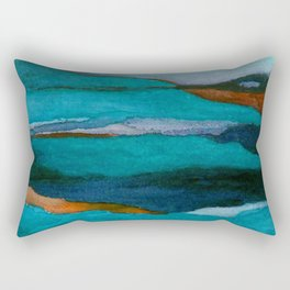 """""""a dark february redux1"""" abstract watercolor painting Rectangular Pillow"""