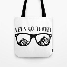 Lets Go Travel Gift Tote Bag