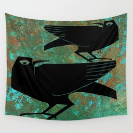 Odin's Ravens Huginn and Muninn Wall Tapestry