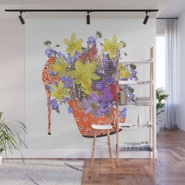 Blooming Shoe Wall Mural