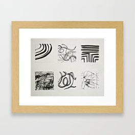 These Lines Are Framed Art Print