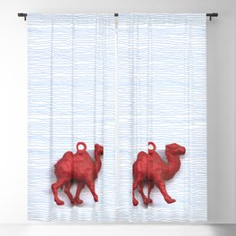 Genetically challenged camel trying to cross the blue mirage Blackout Curtain