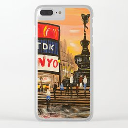 London Piccadilly Sunset Clear iPhone Case