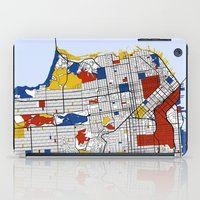 san francisco iPad Cases featuring San Francisco by Mondrian Maps