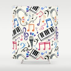 Good Beats - Music Notes & Symbols Shower Curtain